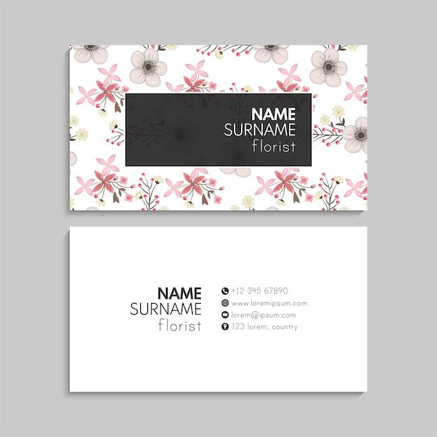 Conjunto de tarjetas de visita. ilustración. eps10