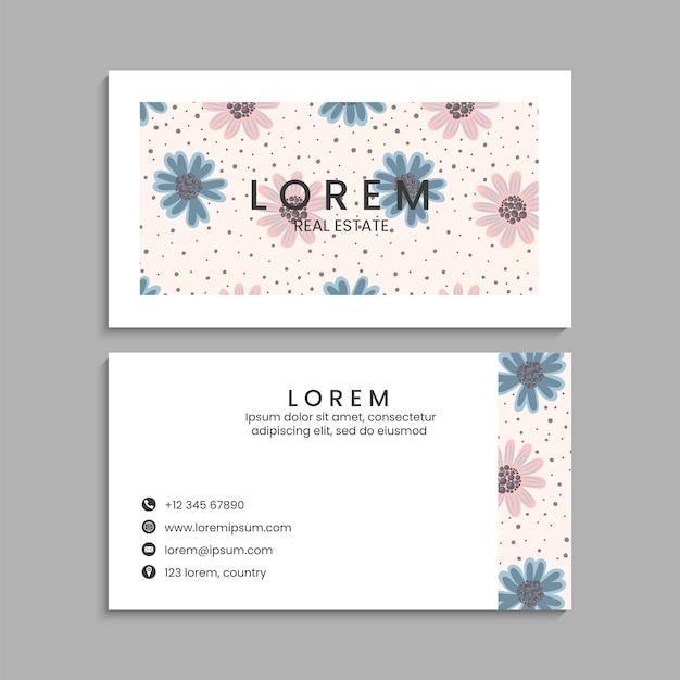 Conjunto de tarjetas de visita. ilustración vectorial. eps10