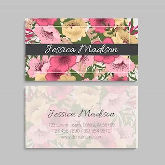 Conjunto de tarjetas de visita. ilustración vectorial