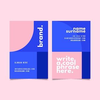 Conjunto de tarjetas de visita minimalistas