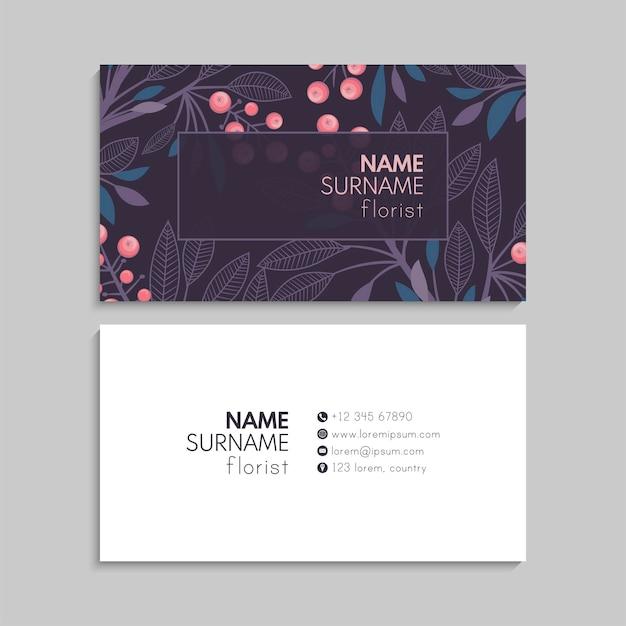 Conjunto de tarjetas de visita.