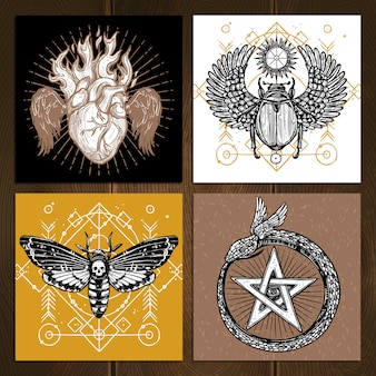 Conjunto de tatuaje oculto