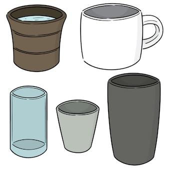 Conjunto de taza de bebida