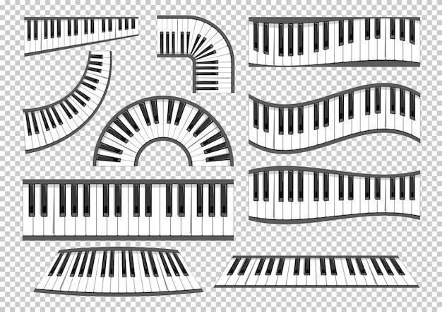 Conjunto de teclados de piano