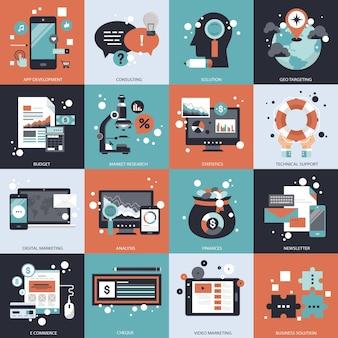 Conjunto de tecnología y gestión empresarial.