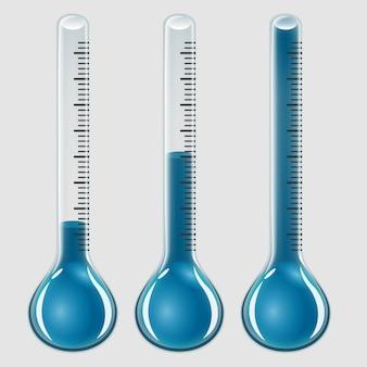Conjunto de termómetros