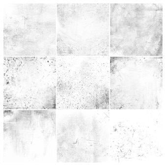 Conjunto de textura apenada grunge blanco