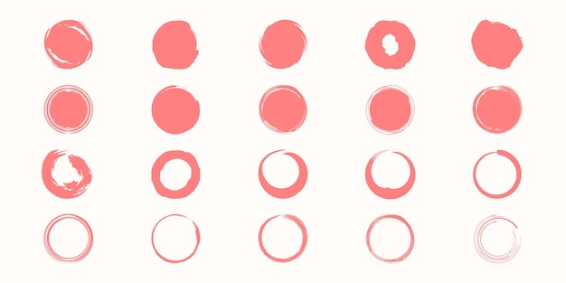 Conjunto de textura de estilo de pintura negra de vector.