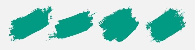 Conjunto de textura grunge abstracto pintado a mano turquesa