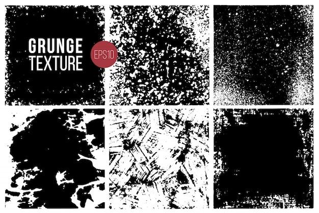 Conjunto de texturas grunge. antecedentes.