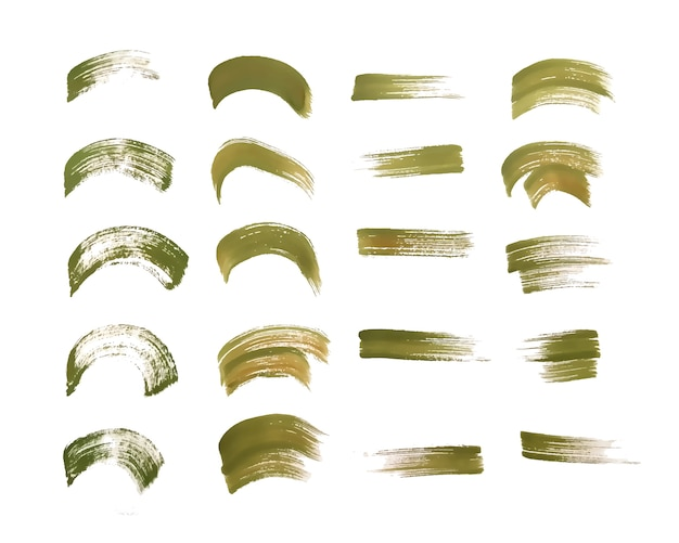 Conjunto de texturas de trazo de pincel acuarela pintada a mano