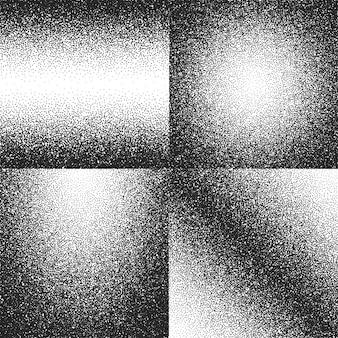 Conjunto de texturas vectoriales de ruido, polvo sucio, grunge