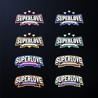 Conjunto de tipografía de emblema de deporte.