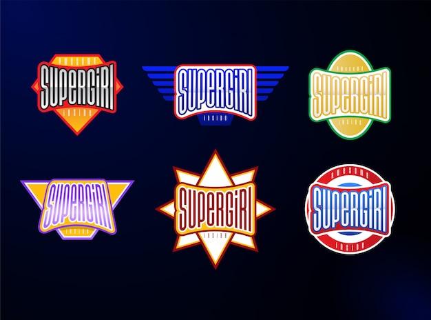 Conjunto de tipografía de emblema de deporte