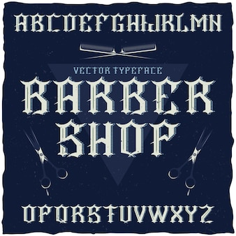 Conjunto de tipografía de peluquería
