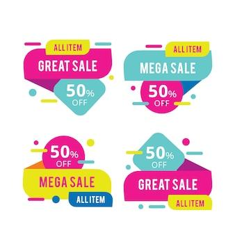 Conjunto de todos los banners de mega venta de artículos