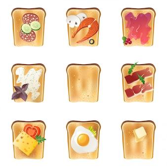 Conjunto de tostadas