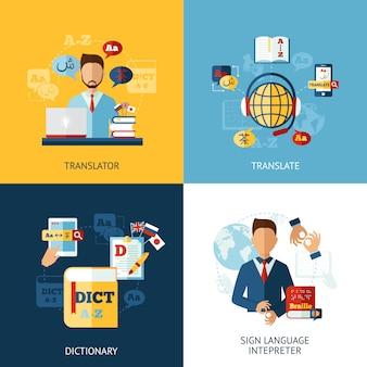 Conjunto de traductores de idiomas