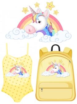 Conjunto de traje de unicornio