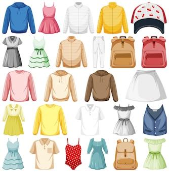Conjunto de trajes de moda