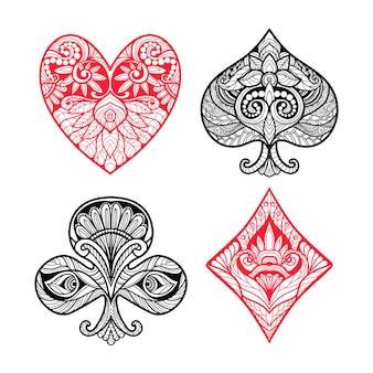 Conjunto de trajes de tarjeta