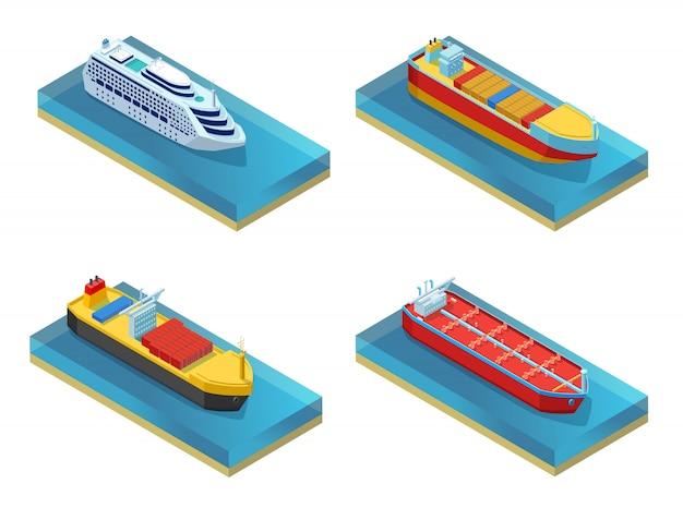 Conjunto de transporte de agua isométrica