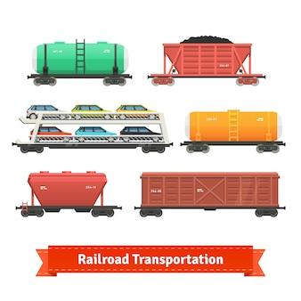 Conjunto de transporte ferroviario