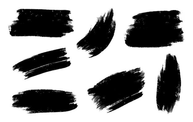 Conjunto de trazo de pincel acuarela abstracta grunge