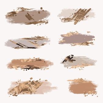 Conjunto de trazos de pincel de patrón
