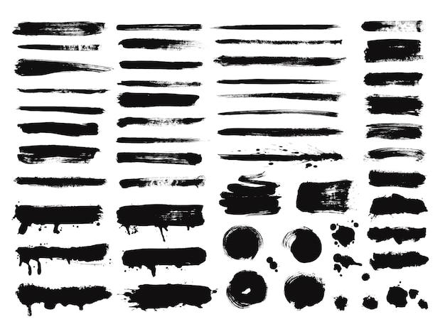 Conjunto de trazos de pincel