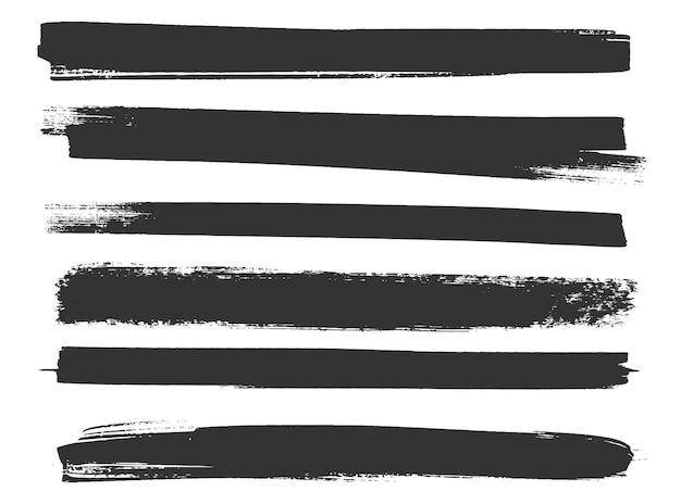 Conjunto de trazos de tinta de pintura grunge