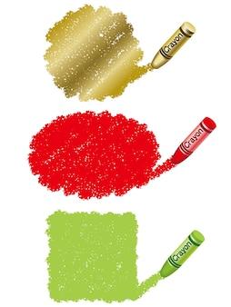 Conjunto de tres crayones dibujar ilustración
