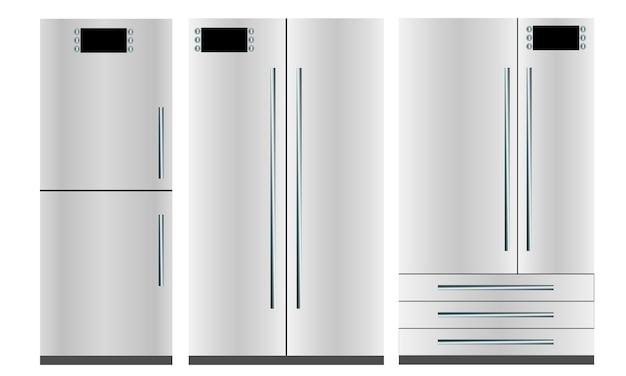 Conjunto de tres refrigeradores