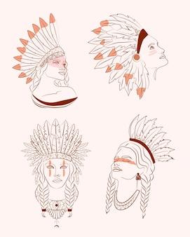 Conjunto de tribal fusion boho diva