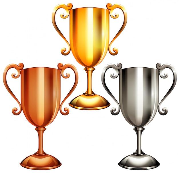 Conjunto de trofeos