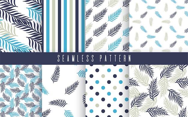 Conjunto tropical de patrones sin fisuras de la planta de palma