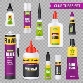 Conjunto de tubos de pegamento