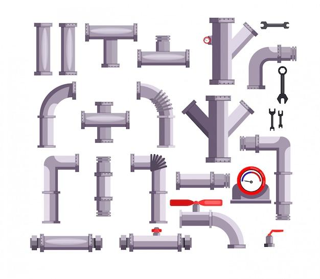 Conjunto de tubos y tuberías.