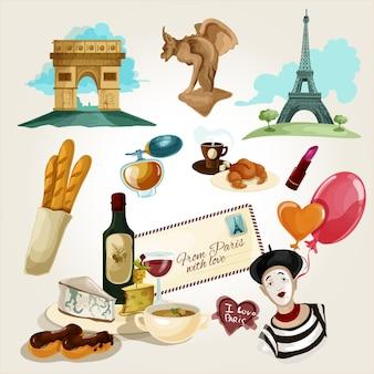 Conjunto turistico paris