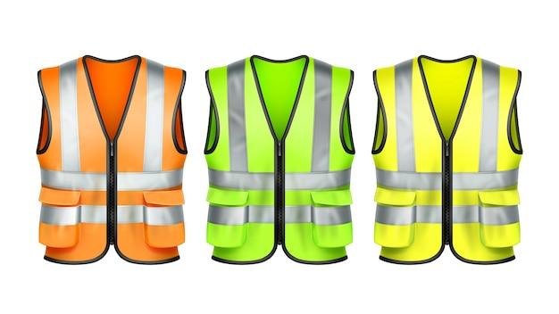 Conjunto de uniforme de ropa de protección de chaleco de seguridad