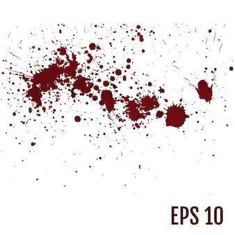 Conjunto de varias salpicaduras de sangre o pintura