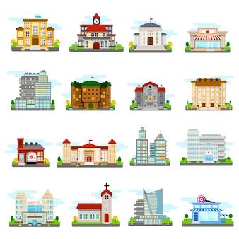 Conjunto de varios edificios