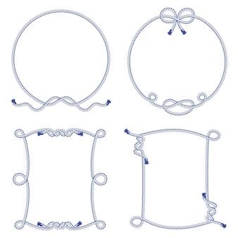 Conjunto de varios elementos de nudos y marcos.