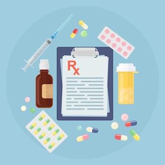 Conjunto de varios medicamentos