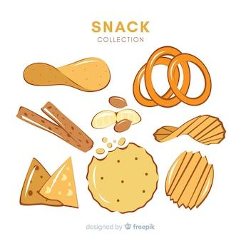 Conjunto de varios snacks