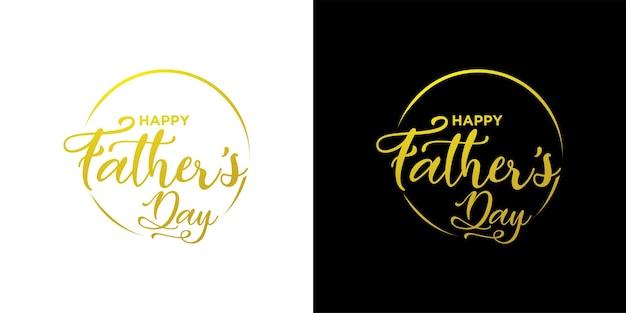 Conjunto de vctor de letras del día del padre