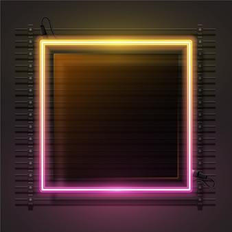 Conjunto de vector de banner gradiente de neón y vidrio