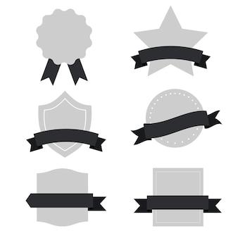 Conjunto de vector de banners mixtos