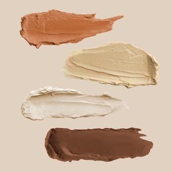 Conjunto de vector de elemento de frotis de crema desnuda