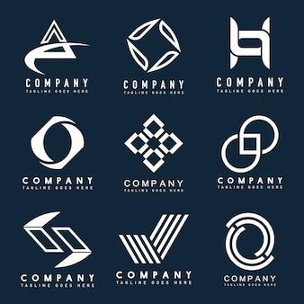Conjunto de vector de ideas de diseño de logotipo de empresa